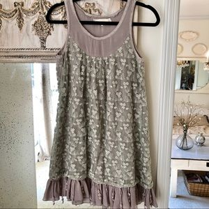 A'reve Lace and Embroidered Dress sz small